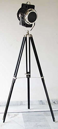 - Nautical Searchlight Floor Lamps Spot Light Collectable Search Light Floor Lamp Black Tripod Stand