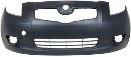 Crash Parts Plus Primed Front Bumper Cover Replacement for 2007-2008 Toyota Yaris Hatchback