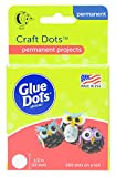 Glue Dots Craft Dots Adhesive, 1/2 Inch, Clear, Roll of 200: more info