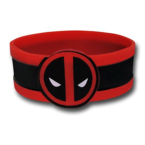 Marvel Comics Extreme Deadpool Face Rubber Wristband]()