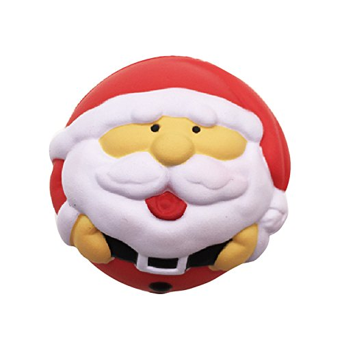 TiTa-Dong 7CM Jumbo Slow Rising Squishies Santa Snowman Ball Squishy Kawaii Christmas Gift Soft Toys Stress Reliever Toy for Kids and Adults (Balls Cristmas)