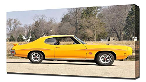 Lilarama USA 1970 Pontiac GTO Judge Hardtop Coupe V2 - Canvas Art Print - Wall Art - Canvas - Hardtop Judge Pontiac Gto