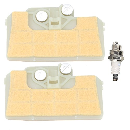 Mckin (Pack of 2) Air Filter with Spark Plug for STIHL 029 039 MS290 MS310 MS390 Chainsaw
