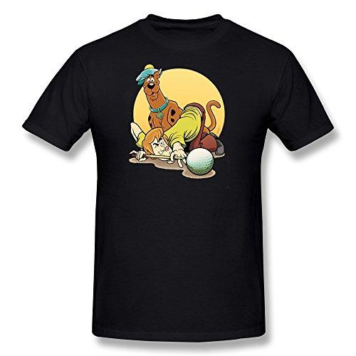 AnneLano Men's SD Scooby-Doo Tshirt X-Large Black (Scooby Doo Fancy Dress Adults)