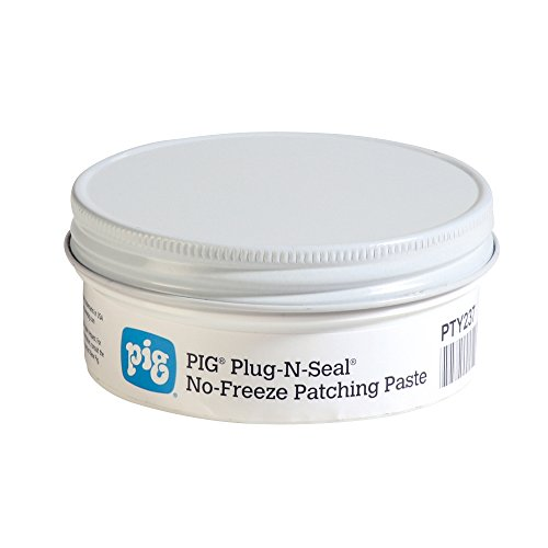 New Pig Plug-N-Seal No-Freeze Patching Paste.75 lb Container, Temporarily Stop Leaks in Cold Temperatures, for Fuel Tanks, Steel Drums & Containers, Gray/Green, PTY237
