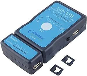 جهاز فحص اسلاك الشبكة المحلية بوحدة تركيب مزدوجة RJ-45 RJ11 - M726