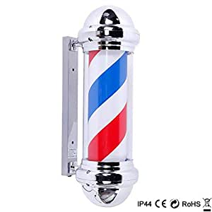 "Mefeir 30"" Barber Pole LED Light,Classic Style Hair Salon Barber Shop Open Sign,Rotating Red White Blue LED Strips,IP44 Waterproof Save Energy"
