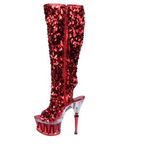 red Red Sequins 2019 eu 5 Uk Pleaser 38 Spiky 4qwR1fI