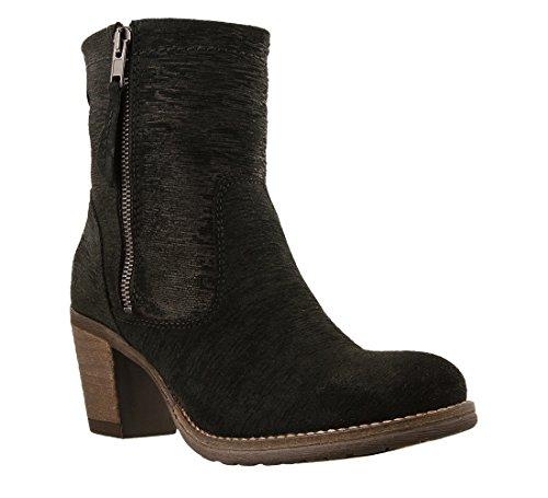 Bke Leather (Taos Women's Shaka 2 Black Embossed Suede 38 M EU / 7-7.5 B(M) US)