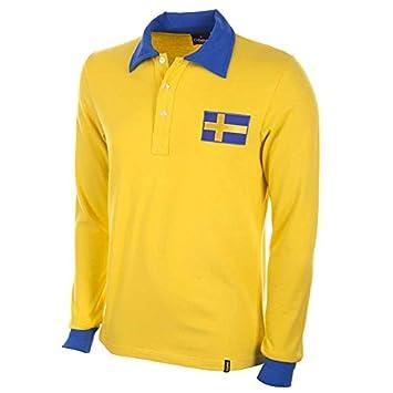 COPA Football - Camiseta Retro Suecia Mundial 1958: Amazon.es: Deportes y aire libre