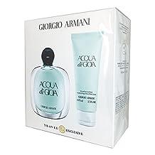 Giorgio Armani Acqua Di Gioia for Women 3.4-Ounce EDP Spray 2-Piece Travel Set