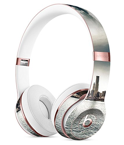 Vivid Cloudy Sky Over The City Skyline DesignSkinz Full-Body Skin Kit for the Beats by Dre Solo 3 Wireless Headphones / Ultra-Thin / Matte Finished / Protective Skin Wrap