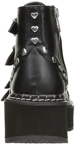 Demonia EMILY-315 Blk Vegan Leather 2eGAFXgnQ