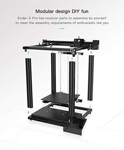 LeeCHee Creailty Ender 5 Pro 3D Printer, FDM Printers Assembly kit, Upgraded Silent 32 bits Motherboard, Ideal for Beginners, Resume Printing, Build Volume 220x220x300mm