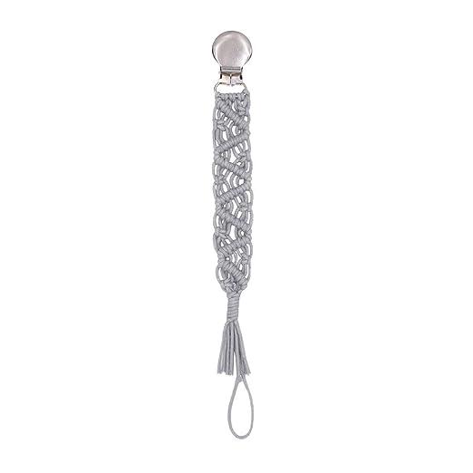 PENG Vintage Simple Crochet Chupete Clip Bebé Algodón Borla ...