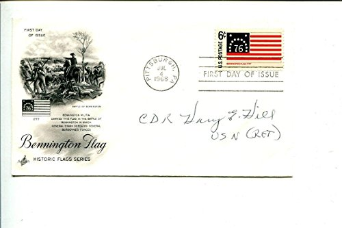 Harry E Hill WWII Fighter Pilot War Ace Navy USN Signed Autograph FDC - NFL Cut ()