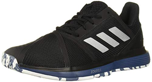 Racquets Tennis Adidas - adidas Men's CourtJam Bounce Multicourt Tennis Shoe, Black/Silver Metallic/tech Ink, 9.5 M US