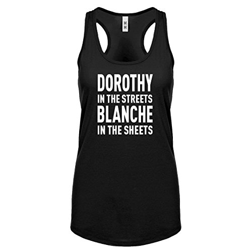 Indica Plateau Racerback Dorothy in The Streets Medium Black Womens Tank Top