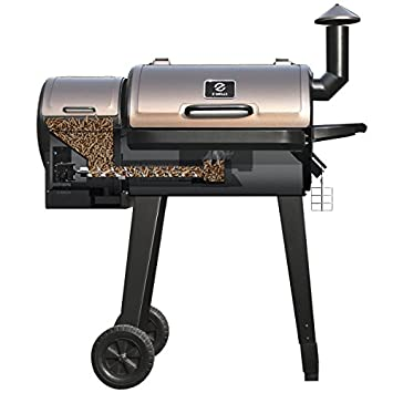 ZGRILLS Wood Pellet Grill Smoker Outdoor BBQ Grills and Smoker,450 Square Inches,Black