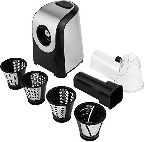 Affettaverdure elettrico elettrico da cucina 150 Watt, tamburo in acciaio inox, 4 lame coniche 7