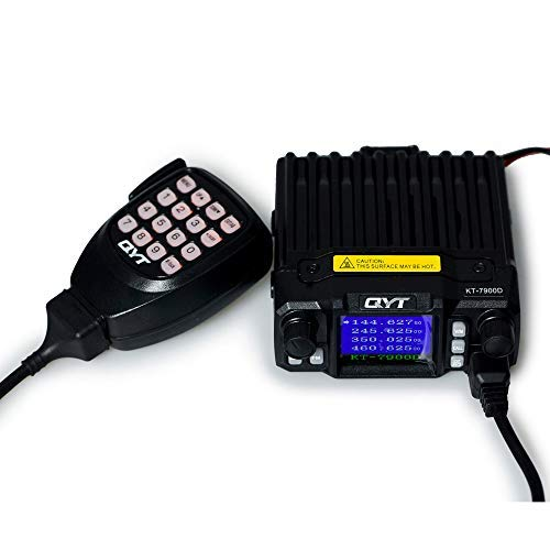 QYT KT-7900D 2M/1.25M/70CM Tri-Band Quad Watch FM Mobile Transceiver, 25-Watt Mini 144/220/430MHz Ham Radio/Base Station (Amateur), w/Programming Cable (Amateur Radio Base Station)