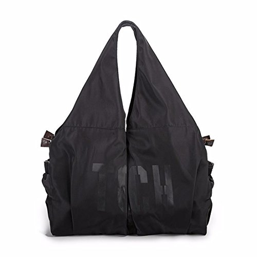 Artwell Women Hobo Bag Large Capacity Tote Shoulder Handbag Casual Nylon Shopping Work Bag (Black) by Artwell