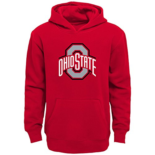 - NCAA Ohio State Buckeyes Kids Primary Logo Fleece Hoodie, Kids Small(4), Red