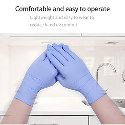 Nitrile Exam Gloves,100 Pcs Comfortable Disposable Nitrile Gloves - Safety, Powder Free, Latex Free (Large, Purple): Clothing