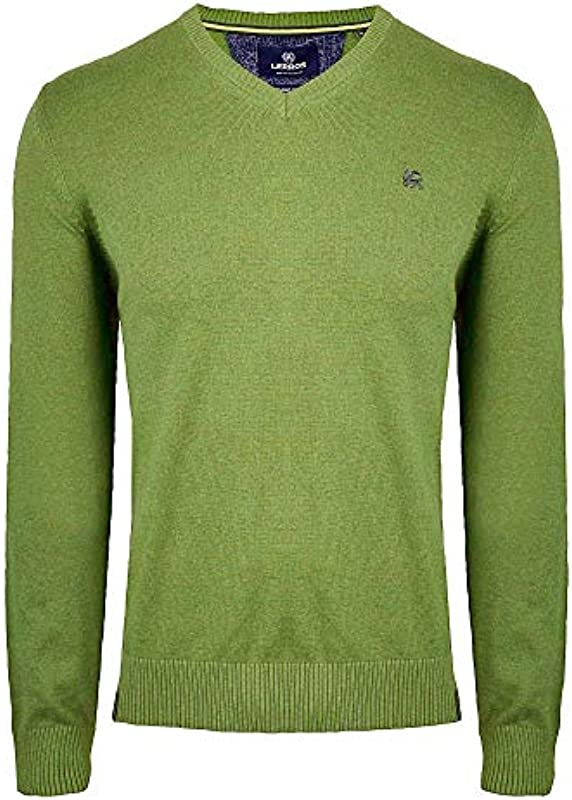 Lerros męski sweter V-Neck Solid: Lerros Men: Odzież