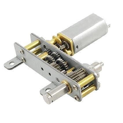 DealMux 13GB 6 milímetros diâmetro do eixo 6V 6 rpm DC Motor engrenado tom de prata