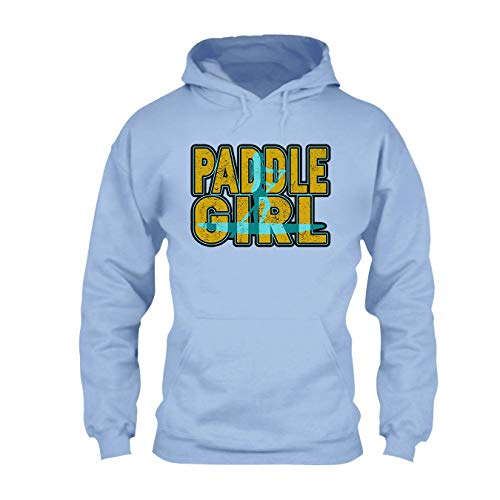 (Are Black Paddle Board Paddle Girl Mens Hoodie, Hoodies for Women, Clothes Blue,L)