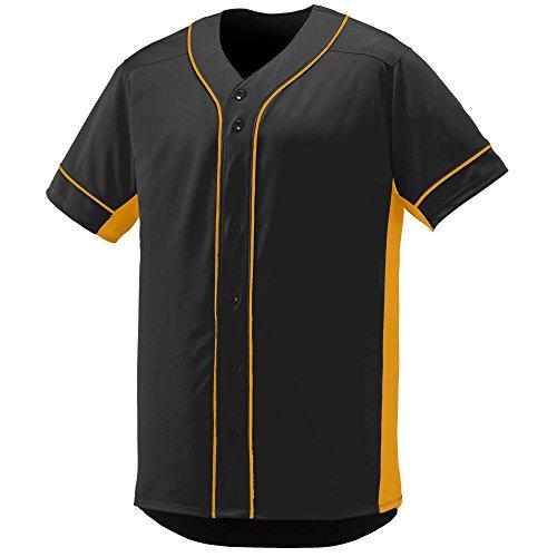 Augusta Sportswear Men's Slugger Baseball Jersey L Black/Gold ()