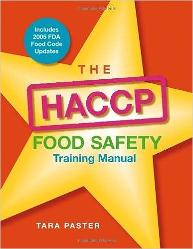 The HACCP Food Safety, Training Manual: Tara Paster