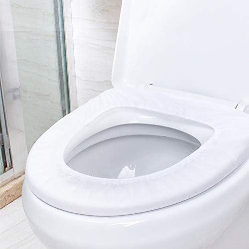UUMFP 使い捨て便座カバーポータブルトイレシートカバー防水個別ポケットサイズラップ30パック個別ラップトイレシートカバー