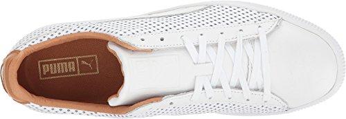 PUMA Select Herren Clyde Colorblock Leder Sneakers Puma Weiß / Puma Weiß