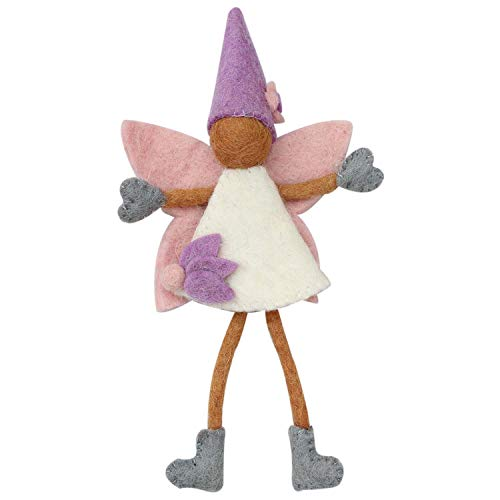 (Global Crafts Brown Skin Tooth Fairy Doll with a Pouch and Pink Wings - Handmade in Nepal)