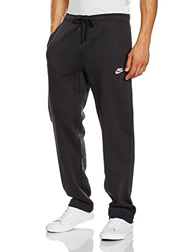 Nike Mens Open Hem Fleece Pocket Sweatpants Black/White 823513-010 Size Medium