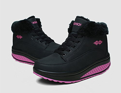 Cuir Chaussures Fitness Peluche Femme chaud running Hiver Casual Gym Balançoire microfibre Sneakers Eagsouni® Baskets Course de Entrainement wHSqIU