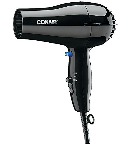 Conair 047BW Black 2 Heat / 2 Speed Hair Dryer - 1600W