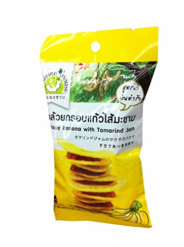6 Packs of Crispy Banana with Tamarind Jam, Delicious Snack From Tamarind House Brand, GMP Certified. (40 G/ (Banana Flasher Costume)