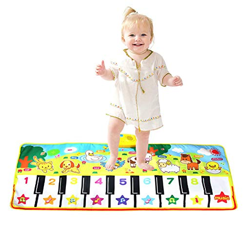 lesgos Piano Mat, Kids Colorful Electronic Dance Music Mat Toy, 19 Keys Educational Keyboard Playmat Musical Carpet Blanket for 3-6 Year Old Toddler Girls Boys by lesgos (Image #7)