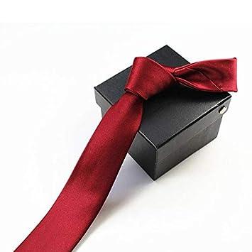 LFLJIE Corbata para Hombres Corbata Delgada Color sólido Corbata ...