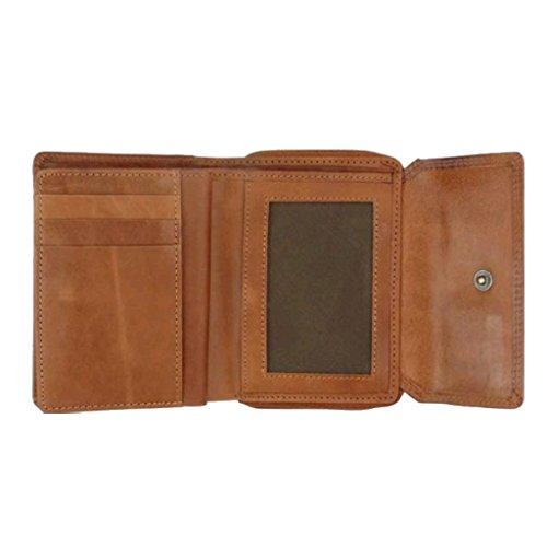 Lederwaren Fairtrade , Portafogli  Marrone marrone 17x10cm