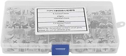 Nokmoerenset DIY Brede toepassing Meubelverbindingsset 75 stuksset Eenvoudig te gebruiken zilverkleur voor industrile hardware Industrile accessoires