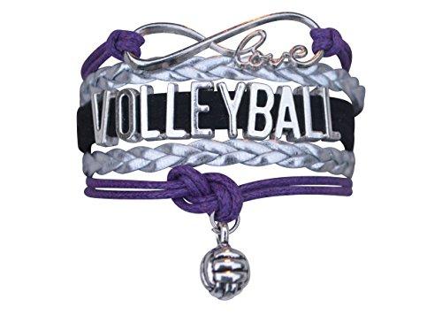 Volleyball Charm Bracelet - Infinity Love Adjustable Charm Bracelet with Volleyball Charm for Her]()