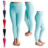 POPINJAY Premium Soft Girls Leggings – Best High Waist Ankle Length 4-Way Stretchy Leggings for Toddlers and Big Kids