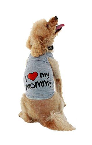 5007 Tank (Bubba Dog I Love My Mommy Tank, Grey,  X-Small)