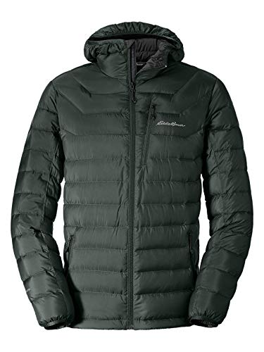 - Eddie Bauer Men's Downlight StormDown Hooded Jacket, Avocado Regular M