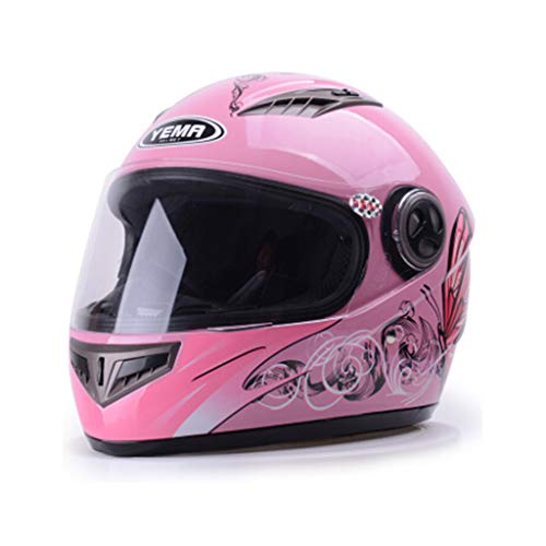 GZZ casco de moto casco integral - Cuatro Estaciones Para Damas Casco De Motocicleta Eléctrica Casco Completo Casco...