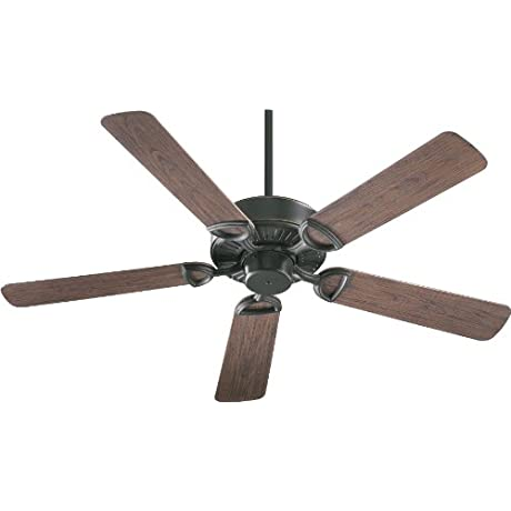 Quorum International 143525 95 Estate Patio Ceiling Fan With Walnut ABS Blades 52 Inch Old World Finish